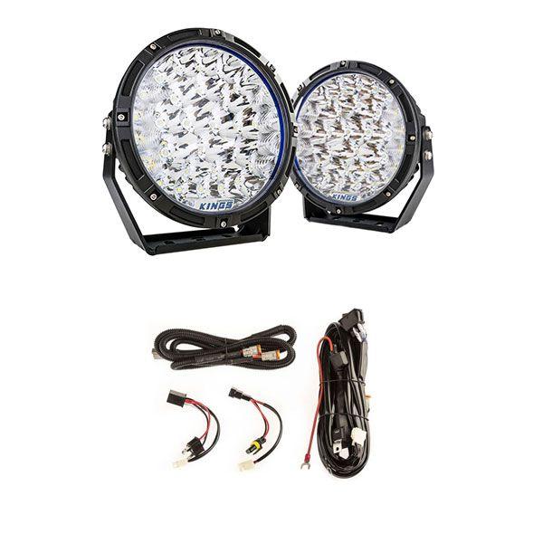 "Adventure Kings 9"" Lethal LED Driving Lights (Pair) + Plug N Play Smart Wiring Harness Kit"