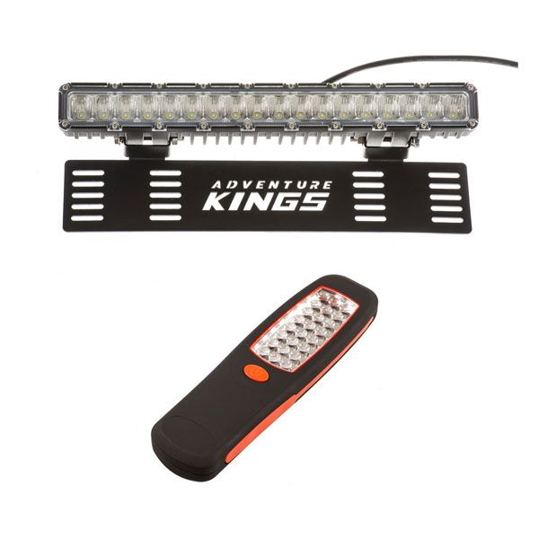"15"" Numberplate LED Light Bar + Kings LED Work Light"