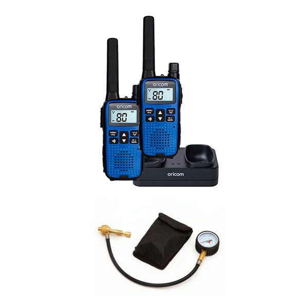 Oricom Handheld UHF CB Radio Twin Pack - UHF2190 + Tyre Deflator - Kwiky
