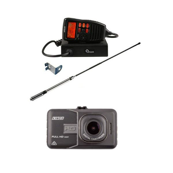 Oricom UHF380PK In-Car 5W CB Radio + Adventure Kings Dash Camera