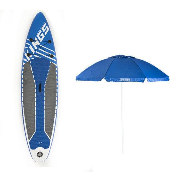 Adventure Kings Inflatable Stand-Up Paddle Board + Beach Umbrella