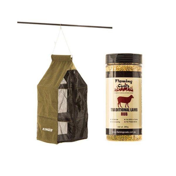 Adventure Kings Hanging Pantry + Flaming Coals Traditional Lamb Rub