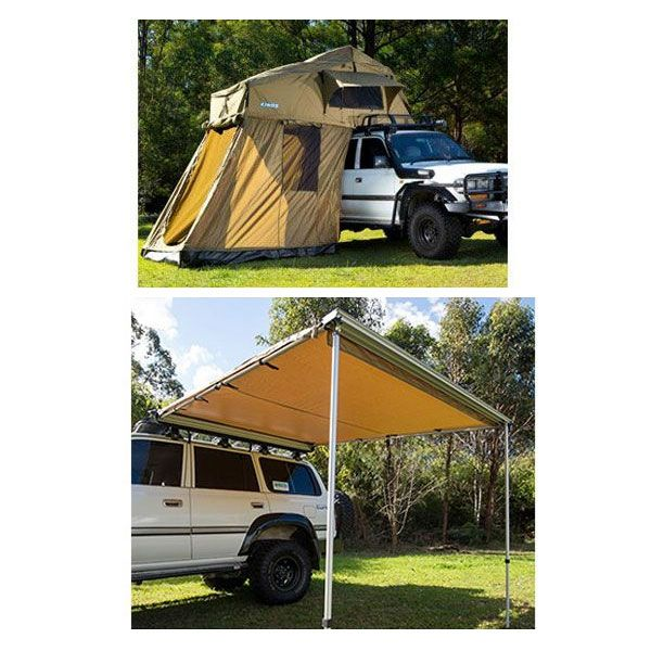 Adventure Kings Roof Top Tent + 4-man Annex + Adventure Kings Awning 2.5x2.5m