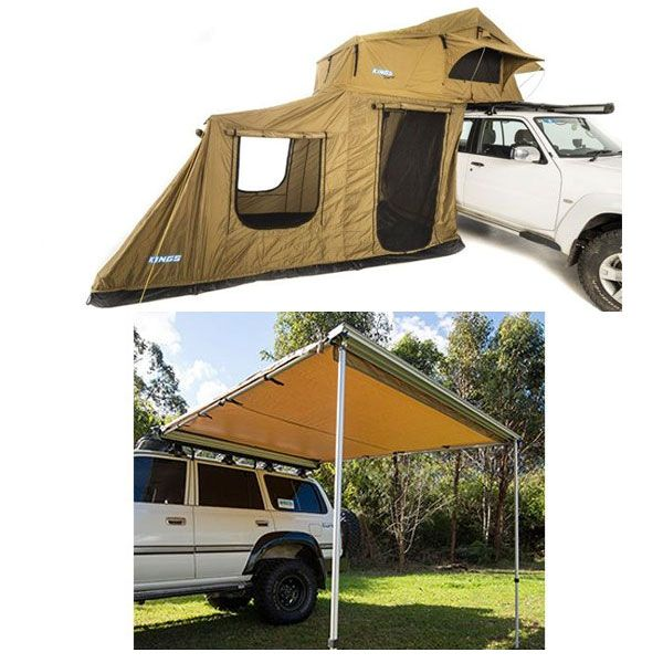 Adventure Kings Roof Top Tent + 6-man Annex +  Awning 2.5x2.5m