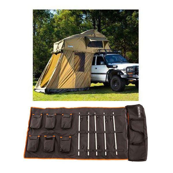 Adventure Kings Roof Top Tent + 4-man Annex + 5 Bar Camp Light Kit