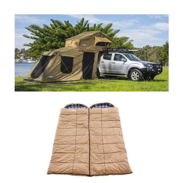 Adventure Kings Roof Top Tent + 6-man Annex + 2x Adventure Kings Premium Sleeping bags