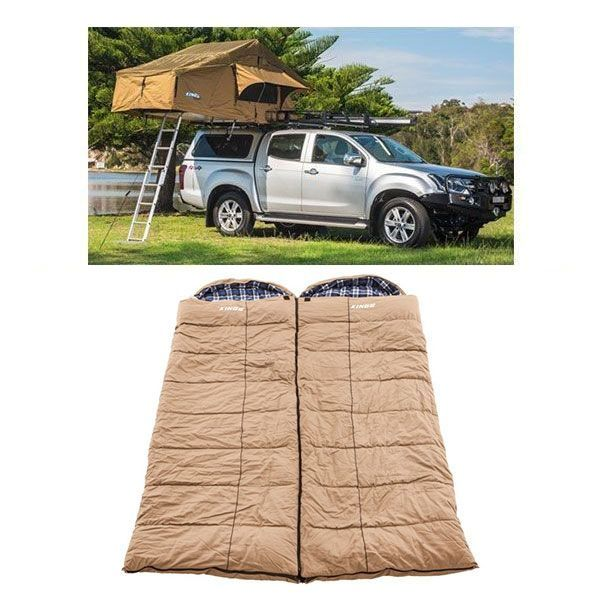Adventure Kings Roof Top Tent + 2x Adventure Kings Premium Sleeping bag
