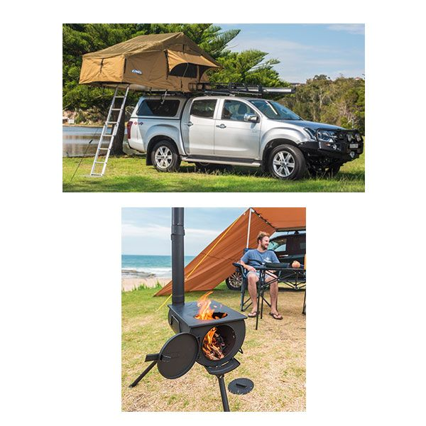 Adventure Kings Roof Top Tent + Adventure Kings Camp Oven/Stove