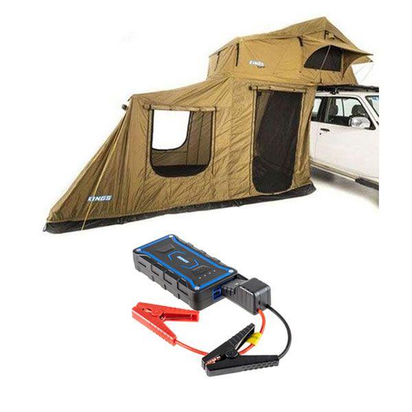 Adventure Kings Roof Top Tent + 6-man Annex + 1000A Lithium Jump Starter