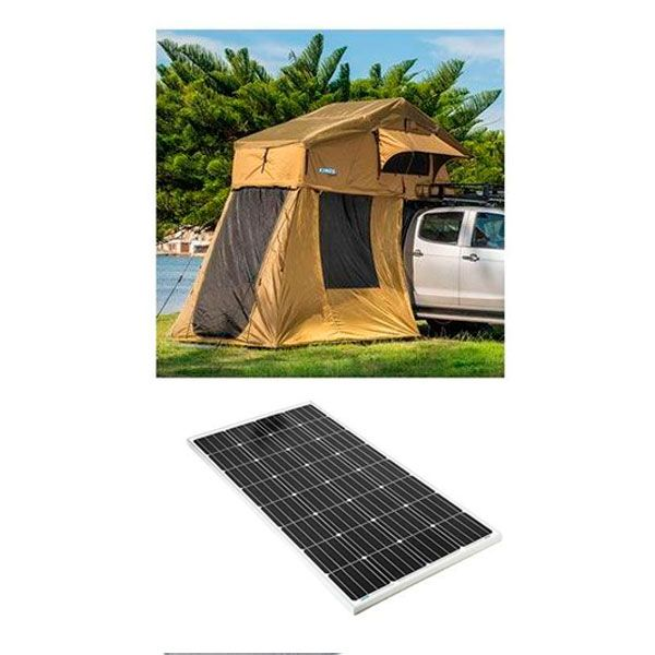Adventure Kings Roof Top Tent + 4-man Annex + 160w Fixed Solar Panel