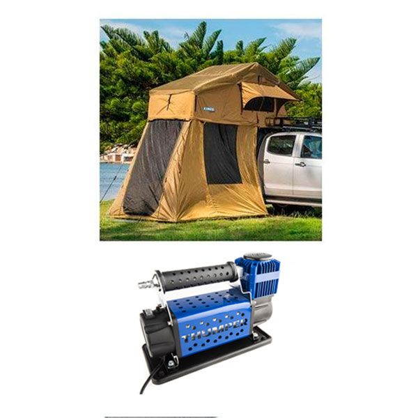 Adventure Kings Roof Top Tent + 4-man Annex + Thumper Air Compressor MkIII