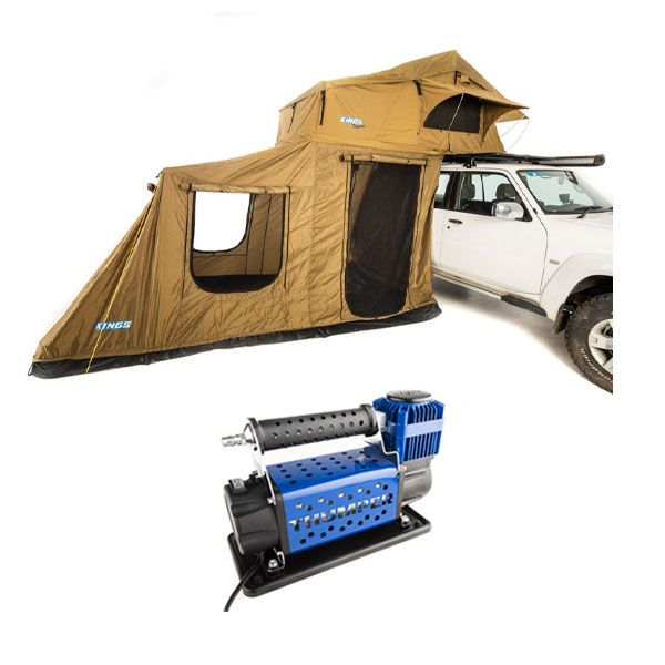 Adventure Kings Roof Top Tent + 6-man Annex + Thumper Air Compressor MkIII