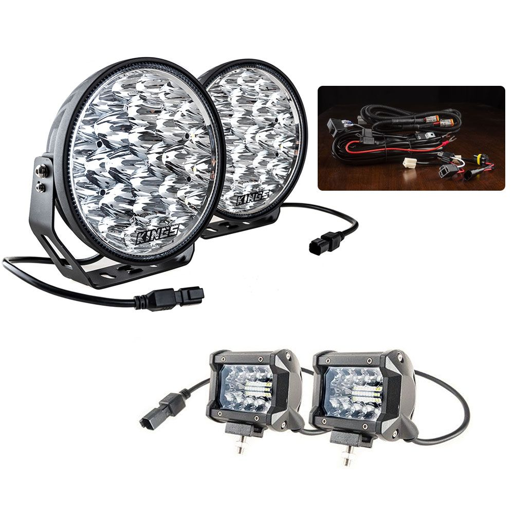 "Adventure Kings Domin8r Xtreme 9"" Essential Light Pack + Adventure Kings 4"" LED Light Bar"