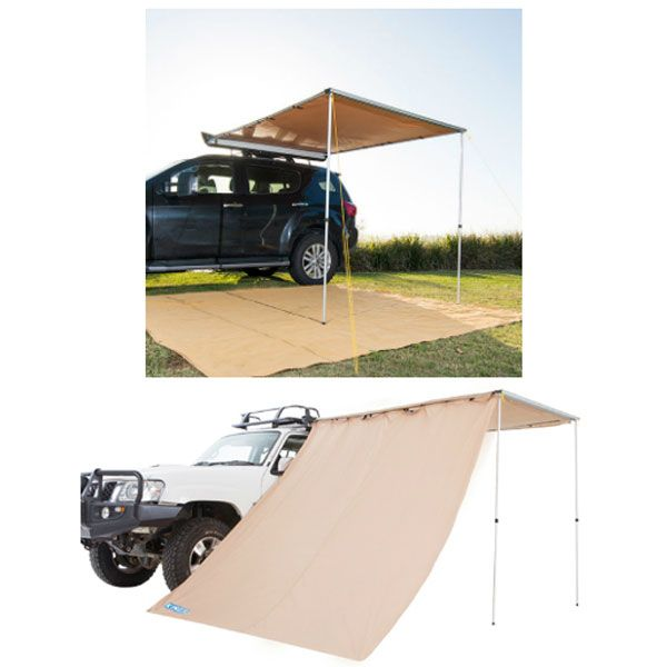 2 x 2.5m 2 in 1 Awning + Strip Light + Adventure Kings Awning Side Wall