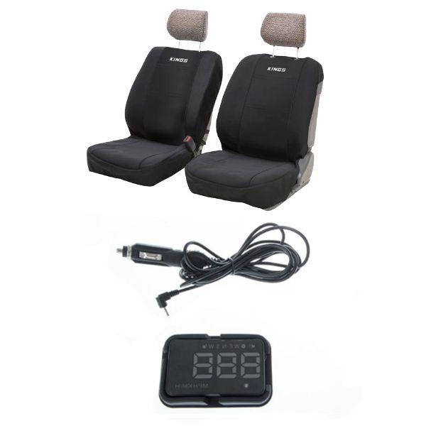 Adventure Kings Neoprene Front Seat Covers (Pair) + Adventure Kings Heads Up Display (HUD)