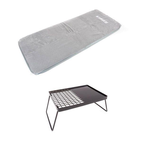 Self-Inflating Foam Mattress - Single + Essential BBQ Plate