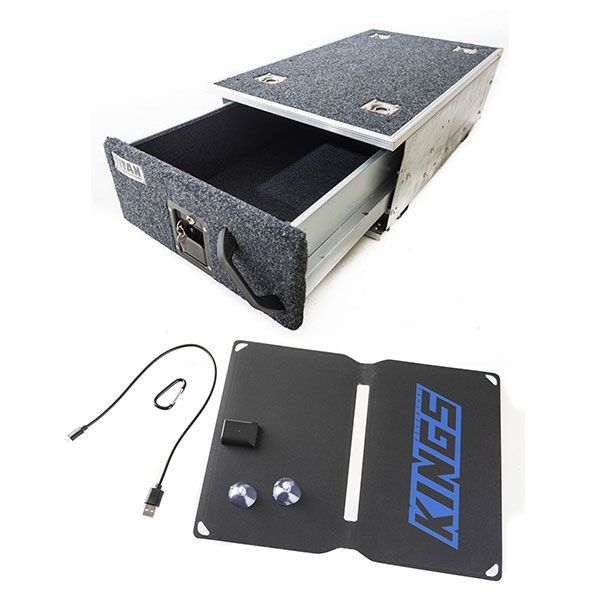 Titan Single Drawer 900mm + 10W Portable Solar Kit