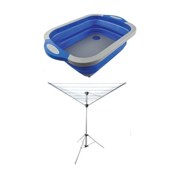 Adventure Kings Camping Clothesline + Collapsible Sink