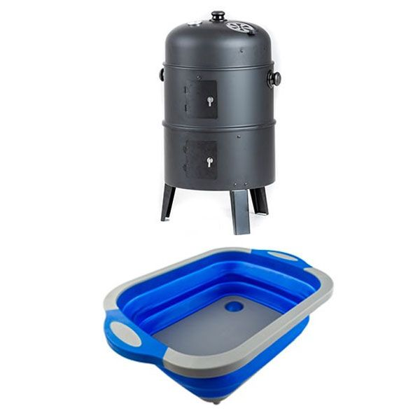 Adventure Kings Portable Meat Smoker + Adventure Kings Collapsible Sink