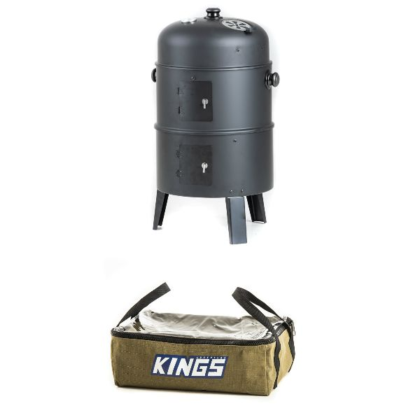 Adventure Kings Portable Meat Smoker + Clear Top Canvas Bag