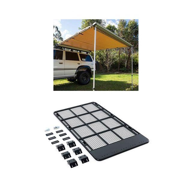 Steel Flat Rack suitable for 120 Series Prado + Adventure Kings Awning 2.5x2.5m