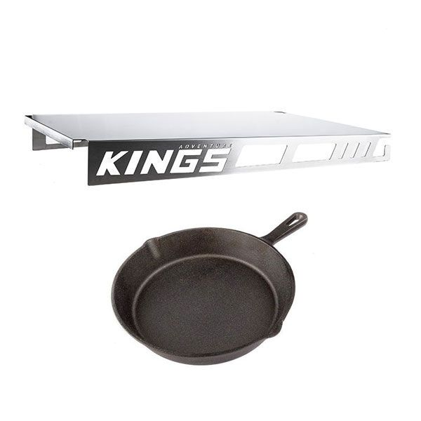 Adventure Kings Drawer Table suitable for 1070mm Titan Drawers + Adventure Kings Skillet Pan