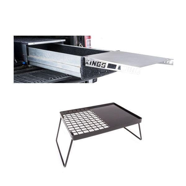 Adventure Kings Drawer Table suitable for 1070mm Titan Drawers + Essential BBQ Plate