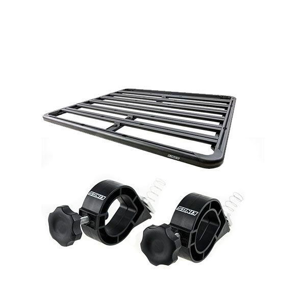 Adventure Kings Aluminium Platform Roof Rack Suitable for Mitsubishi Triton MQ-MR Dual-Cab 2015+ + Platform Roofrack Shovel Holder