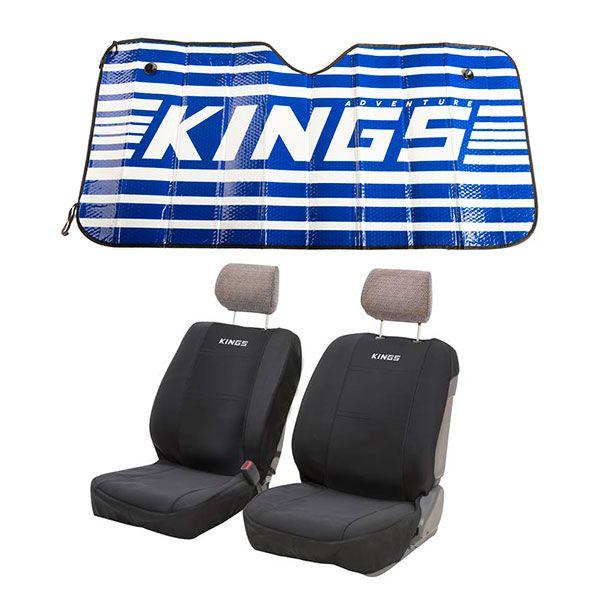 Adventure Kings Neoprene Front Seat Covers (Pair) + Adventure Kings Sunshade
