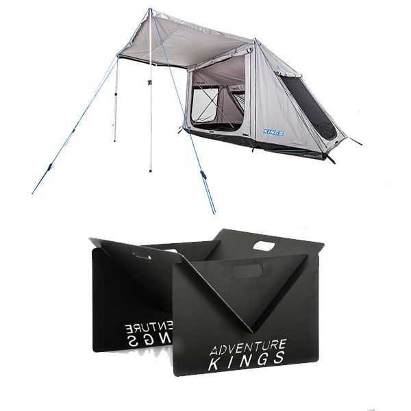 Adventure Kings Swift 5-person Tent + Kings Portable Steel Fire Pit