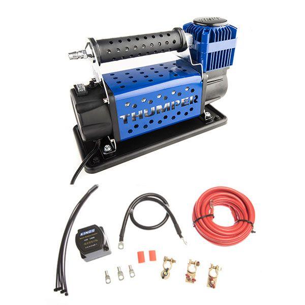 Thumper 12v Air Compressor 160L/M 150PSI + Adventure Kings Dual Battery System