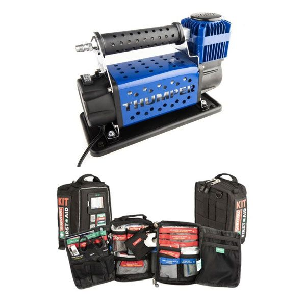 Thumper Air Compressor MKIII + 100+ Piece Survival 'Vehicle' First-Aid Kit