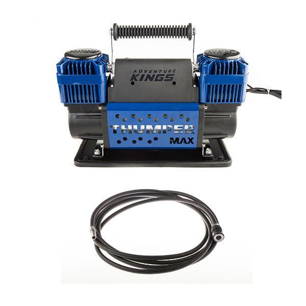 Thumper Max Dual Air Compressor + Thumper Air Hose Extension 4m