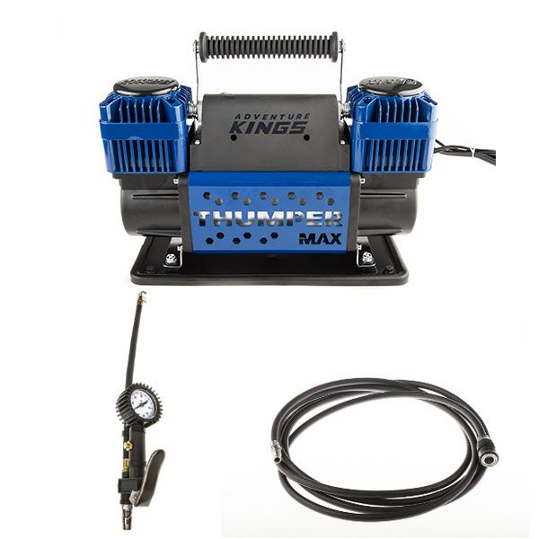 Thumper Max Dual Air Compressor + Kings 3in1 Ultimate Air Tool + Thumper Air Hose Extension 4m
