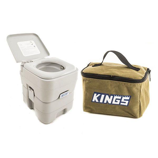 Adventure Kings Portable Camping Toilet + Adventure Kings Toiletry Canvas Bag