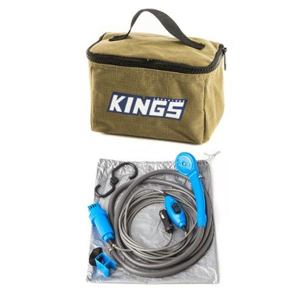 Adventure Kings Toiletry Canvas Bag + Portable Shower Kit