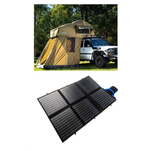 Adventure Kings Roof Top Tent + 4-man Annex + 120W Portable Solar Blanket
