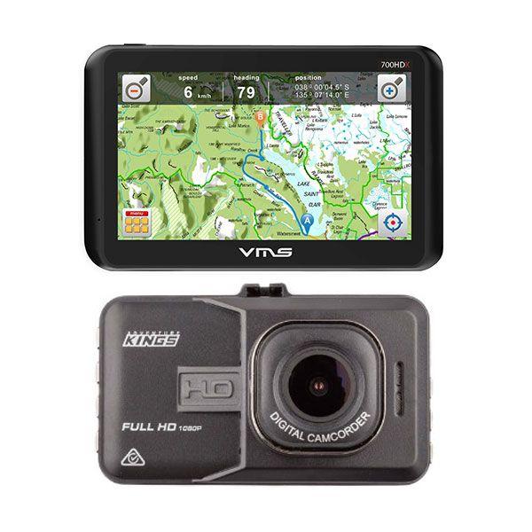 VMS Touring 700 HDX GPS + Adventure Kings Dash Camera