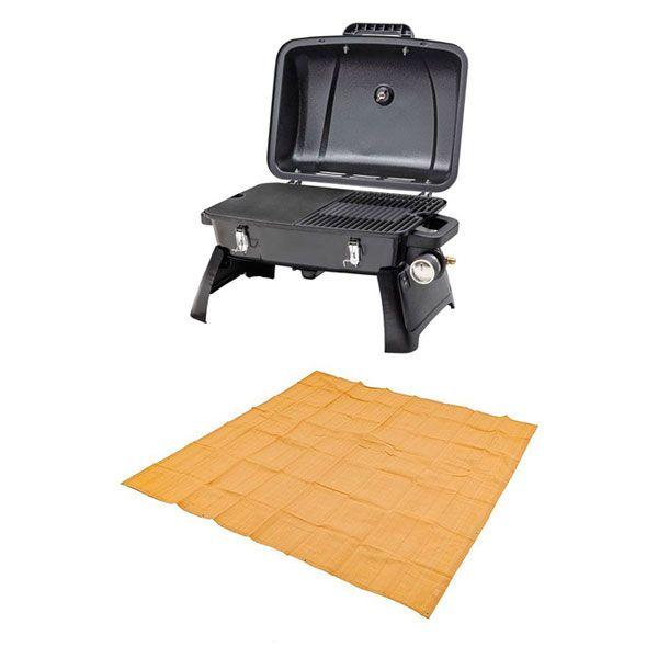 Gasmate Voyager Portable BBQ + Adventure Kings Mesh Flooring 3m x 3m