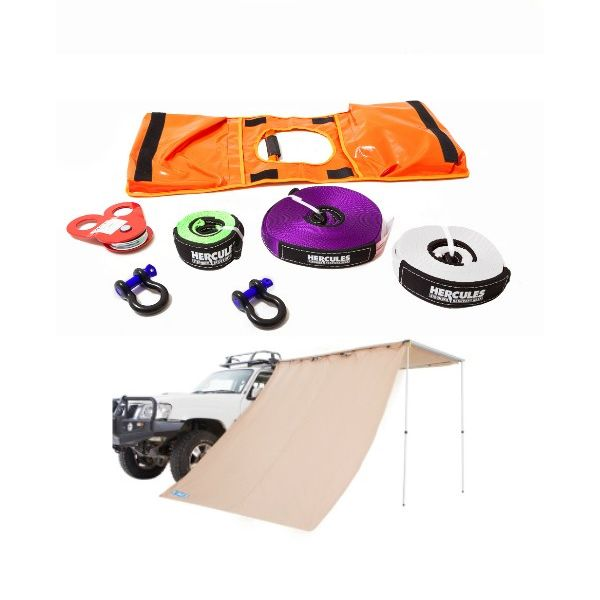 Adventure Kings Awning Side Wall + Hercules Essential Nylon Recovery Kit
