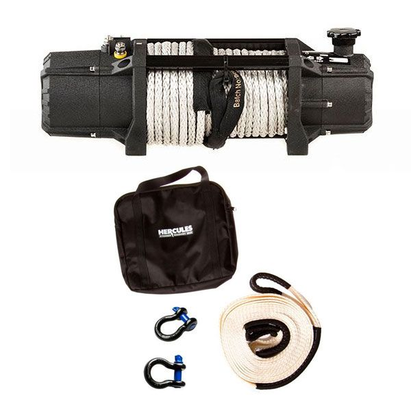 Domin8r Xtreme 12,000lb Winch + Hercules Snatch Strap Kit