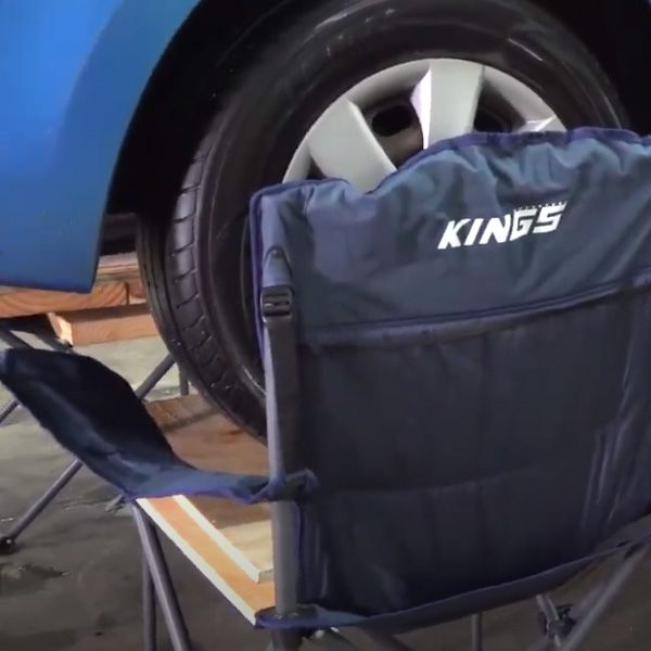 We put a car on our camp chairs!