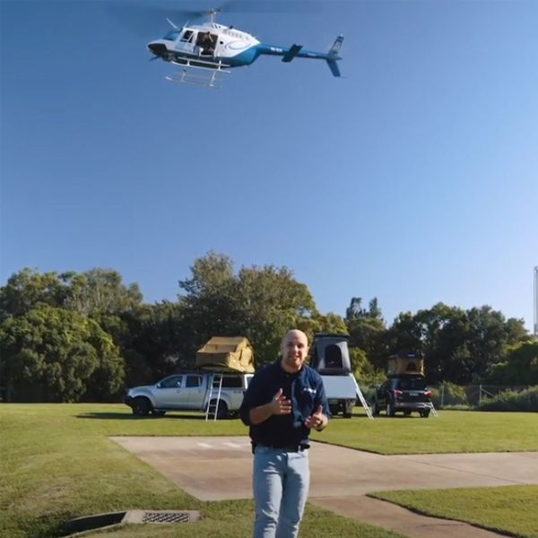 Kings Rooftop Tents Vs Helicopter – Who'll Win