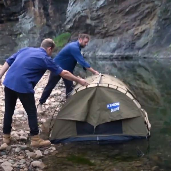 Our craziest stunt ever – Big Daddy Deluxe down a river!