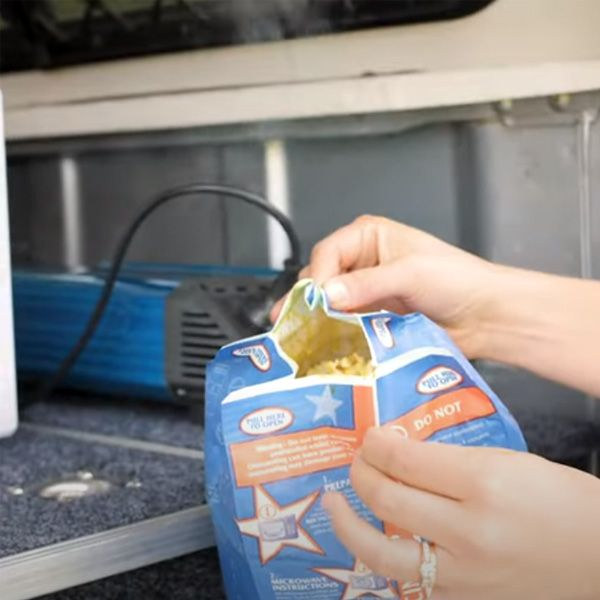 Microwave popcorn at camp – yep, it's possible!