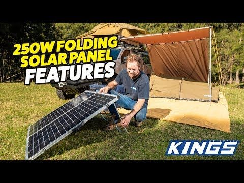250W Portable Solar Panel Features!