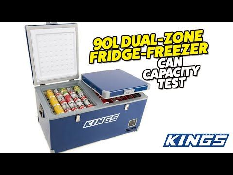 Adventure Kings 90L Dual Zone Fridge Freezer Can Capacity Test