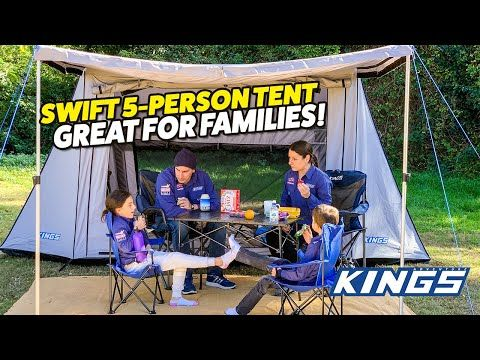 Adventure Kings Swift 5-person Tent is Great for families!