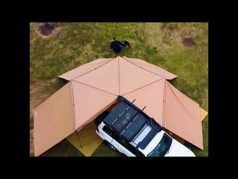 Check out the 270° King Wing Awning and Walls Combo from Adventure Kings