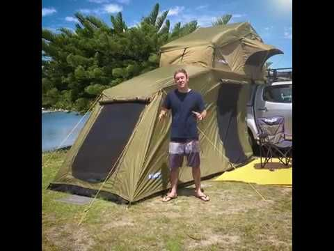 The Adventure Kings Roof Top Tent with 6 Person Annex there is room for the whole family!